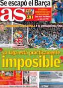 Portada diario AS del 17 de Diciembre de 2012