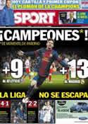 Portada diario Sport del 17 de Diciembre de 2012