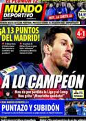 Portada Mundo Deportivo del 17 de Diciembre de 2012