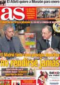 Portada diario AS del 18 de Diciembre de 2012