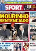 Portada diario Sport del 18 de Diciembre de 2012