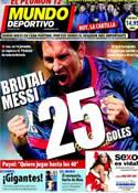 Portada Mundo Deportivo del 18 de Diciembre de 2012