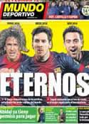 Portada Mundo Deportivo del 19 de Diciembre de 2012