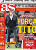 Portada diario AS del 20 de Diciembre de 2012