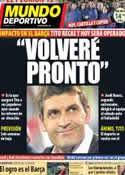 Portada Mundo Deportivo del 20 de Diciembre de 2012