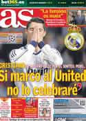 Portada diario AS del 21 de Diciembre de 2012