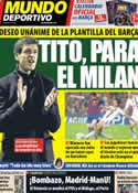 Portada Mundo Deportivo del 21 de Diciembre de 2012