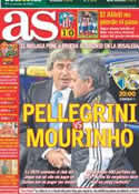 Portada diario AS del 22 de Diciembre de 2012
