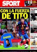 Portada diario Sport del 22 de Diciembre de 2012