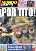 Portada Mundo Deportivo del 22 de Diciembre de 2012
