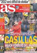 Portada diario AS del 26 de Diciembre de 2012