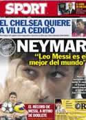 Portada diario Sport del 27 de Diciembre de 2012