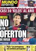 Portada Mundo Deportivo del 27 de Diciembre de 2012