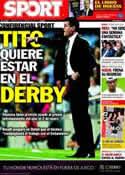 Portada diario Sport del 29 de Diciembre de 2012