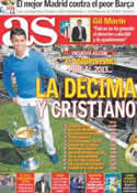 Portada diario AS del 30 de Diciembre de 2012