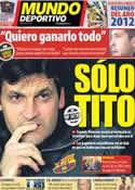Portada Mundo Deportivo del 30 de Diciembre de 2012