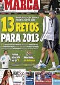 Portada diario Marca del 2 de Enero de 2013