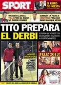 Portada diario Sport del 2 de Enero de 2013