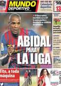Portada Mundo Deportivo del 2 de Enero de 2013