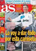 Portada diario AS del 3 de Enero de 2013