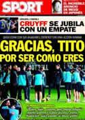 Portada diario Sport del 3 de Enero de 2013