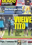 Portada Mundo Deportivo del 3 de Enero de 2013