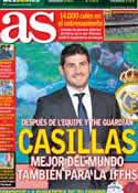 Portada diario AS del 5 de Enero de 2013