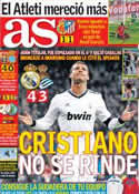 Portada diario AS del 7 de Enero de 2013