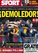 Portada diario Sport del 7 de Enero de 2013