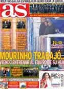 Portada diario AS del 8 de Enero de 2013