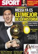 Portada diario Sport del 8 de Enero de 2013