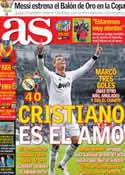 Portada diario AS del 10 de Enero de 2013
