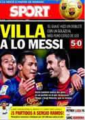 Portada diario Sport del 11 de Enero de 2013