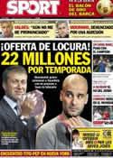 Portada diario Sport del 12 de Enero de 2013