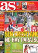 Portada diario AS del 13 de Enero de 2013