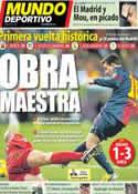 Portada Mundo Deportivo del 14 de Enero de 2013