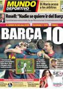Portada Mundo Deportivo del 15 de Enero de 2013