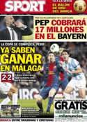Portada diario Sport del 17 de Enero de 2013