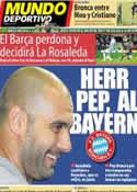 Portada Mundo Deportivo del 17 de Enero de 2013