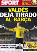Portada diario Sport del 18 de Enero de 2013