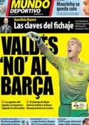 Portada Mundo Deportivo del 18 de Enero de 2013