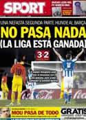 Portada diario Sport del 20 de Enero de 2013