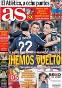 Portada diario AS del 21 de Enero de 2013