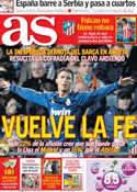 Portada diario AS del 22 de Enero de 2013