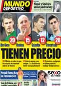 Portada Mundo Deportivo del 22 de Enero de 2013