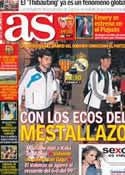 Portada diario AS del 23 de Enero de 2013