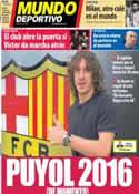 Portada Mundo Deportivo del 23 de Enero de 2013