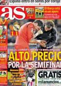Portada diario AS del 24 de Enero de 2013