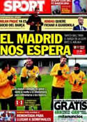 Portada diario Sport del 24 de Enero de 2013