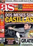 Portada diario AS del 25 de Enero de 2013